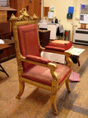 Coronation chair restoration