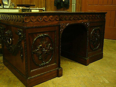 18thC desk after treatment