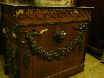18thC desk during treatment